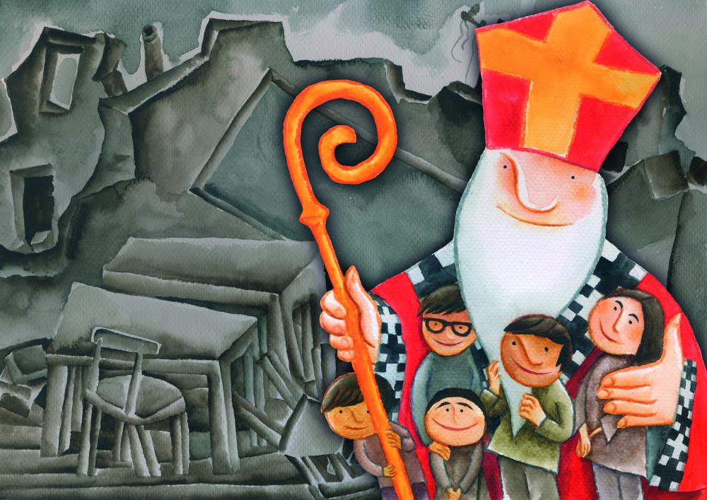 Wszystkie nowe Święty Mikołaj pomaga dzieciom w Aleppo! - Fundacja Świętego Mikołaja AW99
